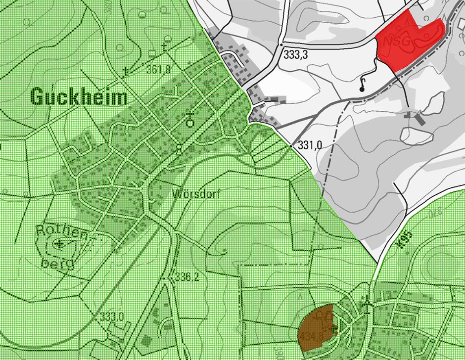 Landschaftsschutzgebiet Guckheim Kartenausschnitt